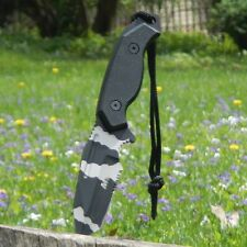 "8"" TACTICAL COMBAT FULL TANG Survival HUNTING Boot KNIFE Fixed Blade URBAN CAMO"