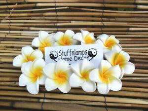 Frangipani Flowers x 10pcs x 7cm Wedding Decorations Artificial Latex Foam