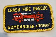 Canadian Bombardier Aerospace Crash Rescue Fire Department Patch