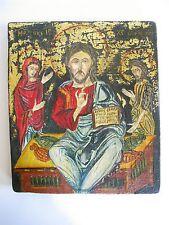 Ältere Holz Ikone Heiligenfigur Reproduktion Deisis 1495  Bulgarien