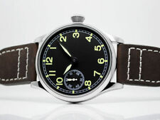 Parnis 44mm Black Dial Luminous Green number hand winding 6497 movement Watch