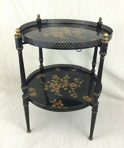 Vintage Toleware Folding Occasional Table 2 Tier Etagere Chinoiserie Harrods