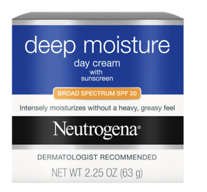 Neutrogena Deep Moisture Day Cream Broad Spectrum SPF 20 2.25 OZ Exp 2019