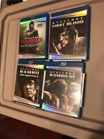 Rambo Collection 1, 2, 3 & 4 - Blu-ray 4-Movie Set Sylvestor Stallone BRAND NEW