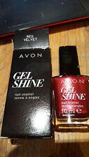 Avon GEL Shine Nail Enamel – Red Velvet