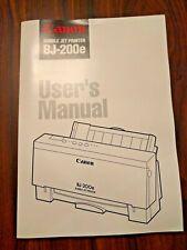 User's Manual Canon For A Bubble Jet Printer BJ-200e