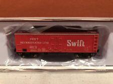 N SCALE RAPIDO TRAINS 521034 SWIFT GARX 37' MEAT REEFER SINGLE CAR RD#2687