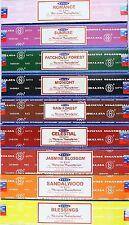 Satya Nag Champa Quality Incense Variety Choice - 12 Boxes 15 g Packs 180 Sticks