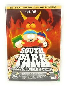 South Park: Bigger, Longer & Uncut (DVD, 1999) George Clooney New & Sealed R4