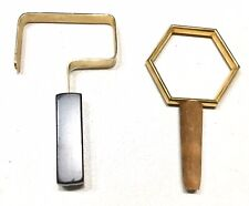 Pair Vintage 1950'Unused Made Italy Parasol Umrella Walking Stick Cane Handles