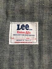 Vtg 60's Lee Union-Alls Coveralls Herringbone New Deadstock Large