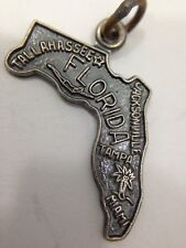 Miami Florida State Charm for Bracelet Tallahassee Jacksonville Tampa Sterlin...