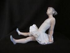 Rare Vintage Retired Nao Lladro Sitting Seated Ballerina Figurine New In Box