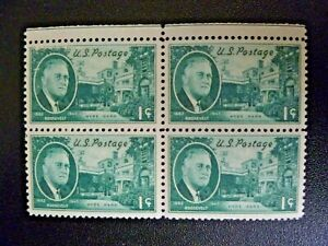 1945 Block of Four $.01 #930 Roosevelt Issue MNH VF - See Description & Images