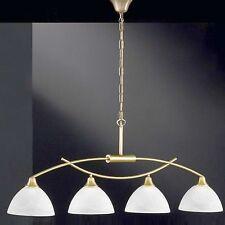 Honsel Luminaire suspendu RENZ 4 BRAS vieux laiton verre Blanc albâtre table