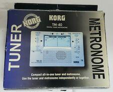KORG TM-40 Metronome Digital Tuner Tested Clean w/ Box