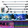 LED Submersible Aquarium Fish Tank Light RGB White Blue Bar Strip Remote Control