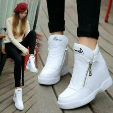 Womens Hidden Wedge Heel Trainers Casual High tops Sports Sneakers Travel Shoes
