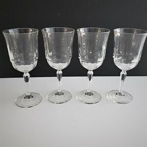 4 ARCOROC CRIS D'ARQUES ARCADE BENGALE GLASS WATER GOBLET(S) FS