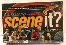Espn Sports Scene it Trivia Dvd Board Game New Sealed Box with Real Sports Clips