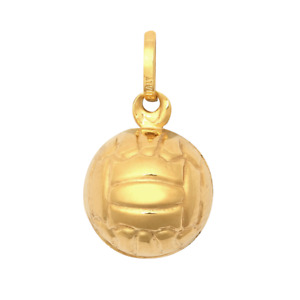 9ct Yellow Gold Football Hollow Charm Pendant *NEW* *SPECIAL* UNISEX