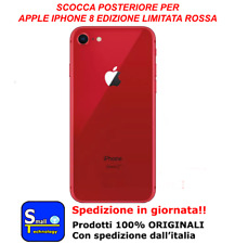 VETRO POSTERIORE SCOCCA OEM PER APPLE IPHONE 8 BACK COVER ROSSO PRODUCT RED