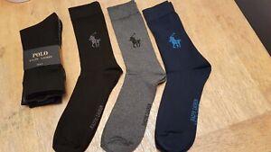 Ralph Lauren Polo Designer Socks Mens  3 pack