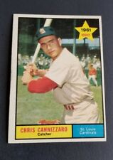 ORIGINAL1961 TOPPS ST. LOUIS CARDINALS BASEBALL CARD #118 CHRIS CANNIZZARO EXCEL