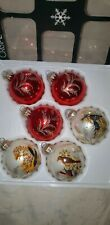 Vintage Christmas 1970s Bird Glass Baubles   Boxed decorations Stamped Germany