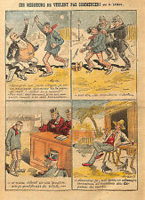 Humor for or against the death penalty drawing lemot 1908