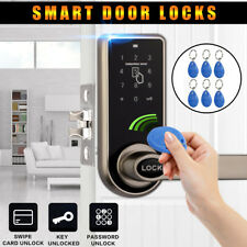 Electronic Code Keyless Keypad Home Security Entry Door Lock 11 RFID Card Tag