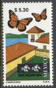 Mexico Scott #2131 MNH $5.30 Michoacán Tourism Butterflies CV$3+