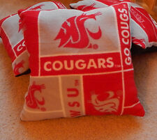 1 WSU Cougars College Football Fleece Pillow Tailgaters & Man Cave Love