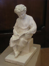 "Antique VeryRare 12"" Russian gypsum plaster bust statue young LENIN Ulyanov 70s"