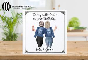 Best Friend / Sister / Cousin / Colleague Personalised Custom Greetings Card