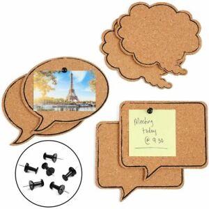 Speech Bubble Cork Bulletin Boards in 3 Sizes (6 Pack)