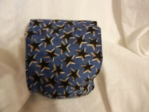 "Dog Puppy Belly Band Wrap Contoured Diaper Male Puppy Flannel lined 18"" STARS"