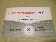 Original Johnson Outboard 1968 Owner Operator's Manual 3 HP 382264 JW Series GC
