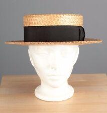 Vtg Men's 1920s Original Parkway Straws Straw Boater Hat sz 7 3/8 20s #3415h