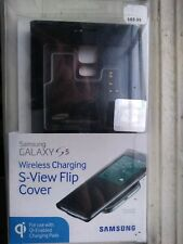 Samsung Galaxy S 5 Wireless Charging Case S View Flip Cover Folio - Black