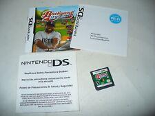 Backyard Baseball '10 (Nintendo DS, 2009) NDS Game Cartridge & Booklets