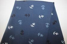 NEU Baumwolljersey 0,50 x 1,50 Maritim Anker auf blau