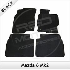 Mazda 6 Mk2 2007-2012 Fully Tailored Fitted Carpet Car Floor Mats BLACK