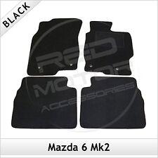 Mazda 6 Mk2 2007-2012 Fully Tailored Fitted Carpet Car Floor Mats BLACK