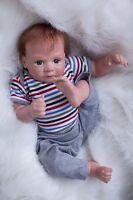 "20"" Bebe Reborn Baby Boy Doll Lifelike Silicone Vinyl Newborn Toys Kids Gift US"