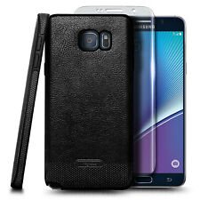 For Samsung Galaxy Note 5 Case Shockproof PU Leather Cover + Screen Protector