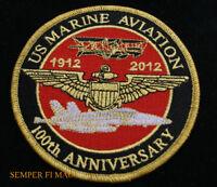 US MARINES AIR WING HAT PATCH 100TH ANNIVERSARY MR F18 CH53 CH46 AH1 V22 C130
