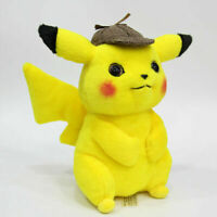 "Pokemon Detective Pikachu 11"" Collectible Figures Soft Doll Plush Toy Kid Gift"