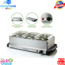 Buffet Server Food Warmer Tray Hot Cookware Restaurant Party Stainless Steel NEW