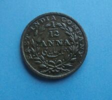 India, 1/12th Anna 1835 in Good Condition.